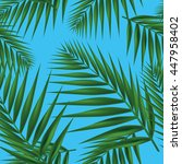 palm leaf seamless. vector... | Shutterstock .eps vector #447958402