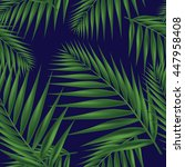 palm leaf seamless. vector... | Shutterstock .eps vector #447958408