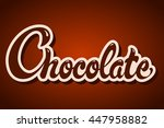 chocolate day hand drawn... | Shutterstock .eps vector #447958882