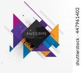 geometric vector background.... | Shutterstock .eps vector #447961402