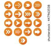 vector arrow icon set orange | Shutterstock .eps vector #447963538
