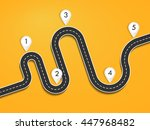 road way location infographic... | Shutterstock . vector #447968482