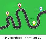 road way location infographic... | Shutterstock . vector #447968512