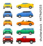 different car vehicle type...   Shutterstock .eps vector #447969355