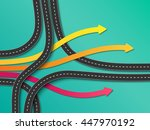 road trip and journey route.... | Shutterstock . vector #447970192