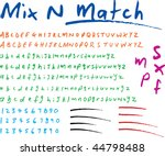 authentic hand written font   Shutterstock .eps vector #44798488