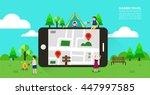 summer travel illustration | Shutterstock .eps vector #447997585