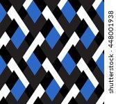 vector geometric seamless... | Shutterstock .eps vector #448001938