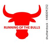 festival running of the bulls... | Shutterstock .eps vector #448009252