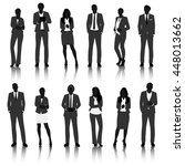 business people silhouettes | Shutterstock .eps vector #448013662