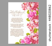 wedding invitation cards with... | Shutterstock .eps vector #448020862