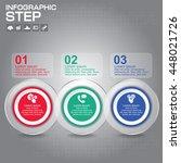 3 steps infographic design... | Shutterstock .eps vector #448021726