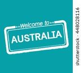 welcome to australia... | Shutterstock .eps vector #448028116