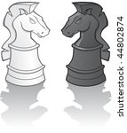 knights and shadow   vector... | Shutterstock .eps vector #44802874