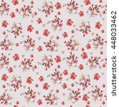 seamless vintage flower pattern  | Shutterstock .eps vector #448033462