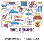 country singapore travel... | Shutterstock .eps vector #448034656
