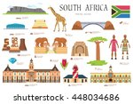 country south africa travel... | Shutterstock .eps vector #448034686
