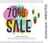 creative sale banner or poster... | Shutterstock .eps vector #448037926