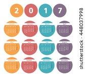 2017 calendar in colored...   Shutterstock .eps vector #448037998