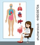 doctor and anatomy chart... | Shutterstock .eps vector #448038706
