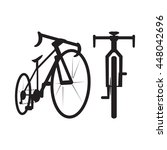 bike icon  front and bottom... | Shutterstock .eps vector #448042696