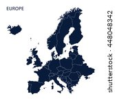 map of europe | Shutterstock .eps vector #448048342