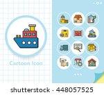 icon set logistic vector