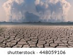 global warming  dry cracked...   Shutterstock . vector #448059106