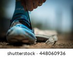 mountain biker shoes | Shutterstock . vector #448060936