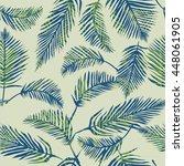 palm leaves   vector... | Shutterstock .eps vector #448061905