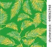 palm leaves   vector... | Shutterstock .eps vector #448061968