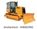 Yellow Bulldozer Excavator ...