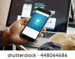 chiang mai  thailand   jul 3... | Shutterstock . vector #448064686