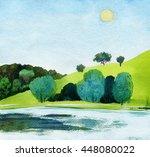 Beautiful Watercolor Of Public...