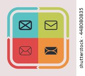 mail and letter icons.... | Shutterstock .eps vector #448080835
