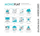 infographics icons collection... | Shutterstock .eps vector #448081885