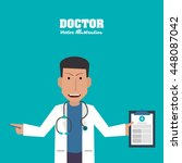 doctor icon. medical and health ... | Shutterstock .eps vector #448087042