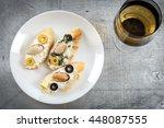 tasty various italian...   Shutterstock . vector #448087555