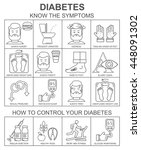 diabetes symptoms and control...   Shutterstock .eps vector #448091302
