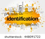 identification word cloud... | Shutterstock .eps vector #448091722