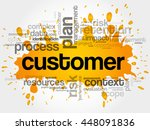 customer word cloud collage ... | Shutterstock .eps vector #448091836