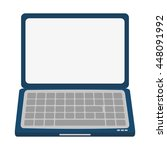 laptop frontview icon | Shutterstock .eps vector #448091992
