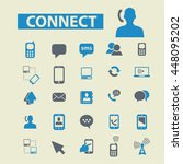 connect icons | Shutterstock .eps vector #448095202