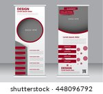 roll up banner stand template.... | Shutterstock .eps vector #448096792