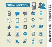 communication icons | Shutterstock .eps vector #448099132