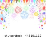 fireworks and balloons | Shutterstock .eps vector #448101112