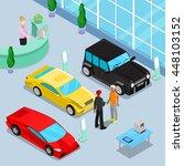 car sales showroom interior... | Shutterstock .eps vector #448103152