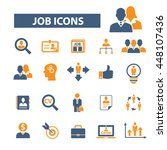 job icons | Shutterstock .eps vector #448107436