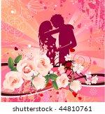 vector floral summer... | Shutterstock .eps vector #44810761