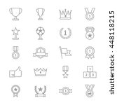 award and trophy icons line set ... | Shutterstock .eps vector #448118215
